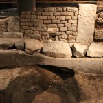 Defensive Ring Road, built between the main wall and first line of houses :Roman Ruins of Barcino the original Barcelona