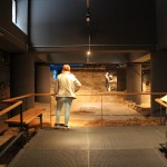 Roman Waiting Room with Mosiac  :Roman Ruins of Barcino the original Barcelona