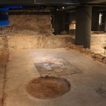 Roman Waiting Room with Mosiac  :Roman Ruins of Barcino the original Barcelona