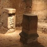 Roman Columns :Roman Ruins of Barcino the original Barcelona