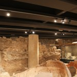 Roman Columns :Roman Ruins of Barcino the original Barcelona