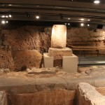 Dying Tank for clothes  :Roman Ruins of Barcino the original Barcelona