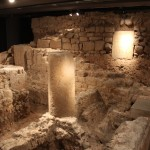 Columns :Roman Ruins of Barcino the original Barcelona