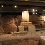 Roman Column :Roman Ruins of Barcino the original Barcelona