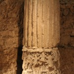 Roman Column :Roman Ruins of Barcino the original Barcelona