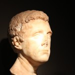 Roman  Bust :Roman Ruins of Barcino the original Barcelona