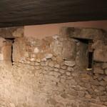 Roman Window :Roman Ruins of Barcino the original Barcelona