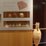 Roman Artifacts Display :Roman Ruins of Barcino the original Barcelona