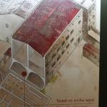Roman Illustration of Barcelona Building :Roman Ruins of Barcino the original Barcelona