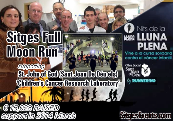 Sitges full moon kids cancer run walk