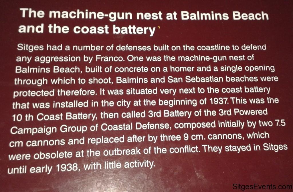 Sitges Balimns Pillbox Gun Emplacement